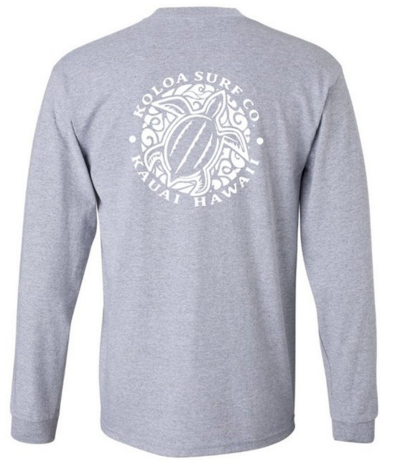 Hawaiian Turtle Logo Long Sleeve t-Shirts